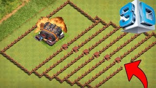 DOPPELKANONE 3D TROLL BASE! || CLASH OF CLANS || Let's Play CoC [Deutsch German]