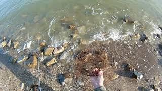 Рыбалка на Азовском море.  Первый выезд в 2018 году.  Ловим Бычка.