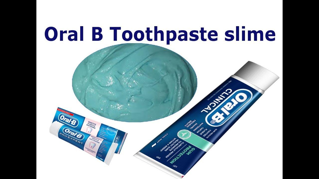 Oral B Toothpaste Slime with sugar !!! NO GLUE, NO BORAX, 2 Ingredients  Toothpaste Slime