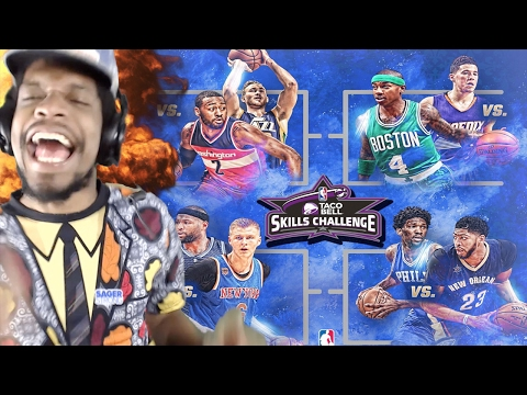 REGGIE MILLER ROAST TF OUTTA CARMELO!! NBA SKILLS CHALLENGE 2017 HIGHLIGHTS REACTION