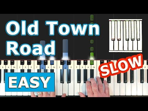 Lil Nas X Old Town Road Slow Easy Piano Tutorial Sheet