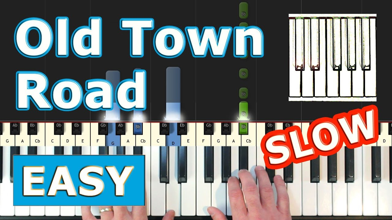 Lil Nas X Old Town Road Slow Easy Piano Tutorial Sheet Music Synthesia