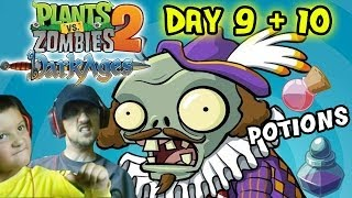 Plants vs. Zombies 2 DARK AGES - Day 9 + 10:  Potions are Whack! (Dad & Son iOS Face Cam)