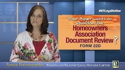 Buyer choosing not to review HOA documents?