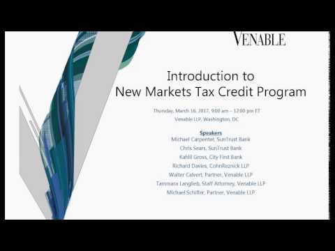 New Markets Tax Credits Overview for Nonprofit Organizations - March 16, 2017