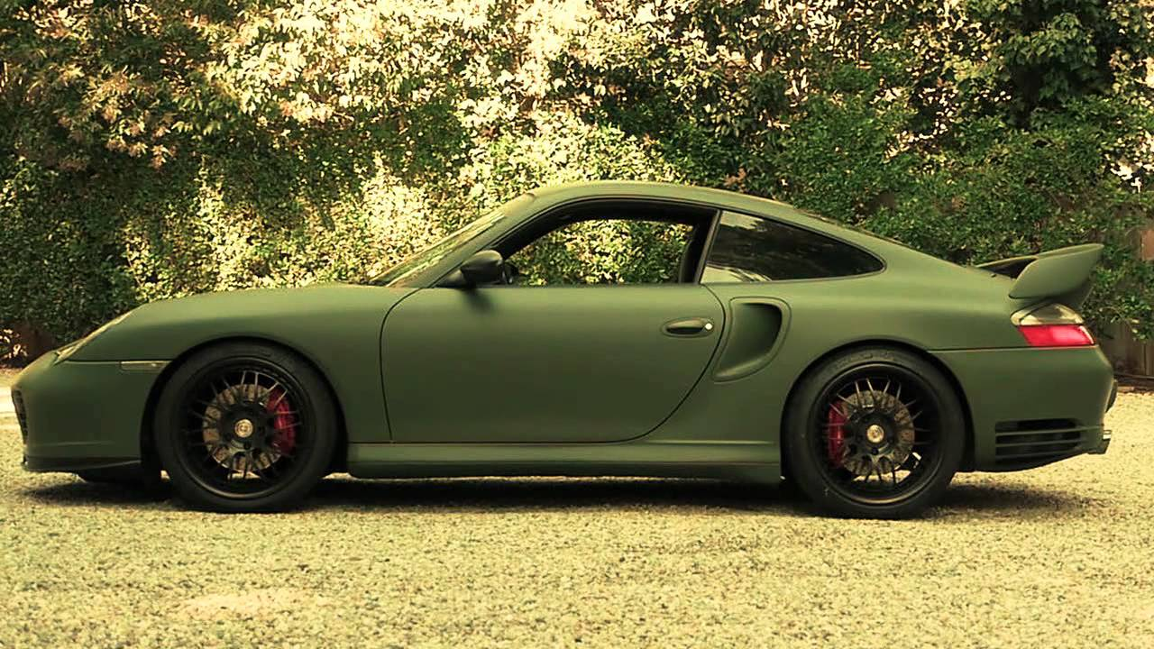Porsche 996 Turbo Matte Army Green Wrap Youtube