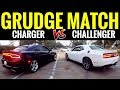 Dodge CHARGER RT vs CHALLENGER RT | STREET RACE!