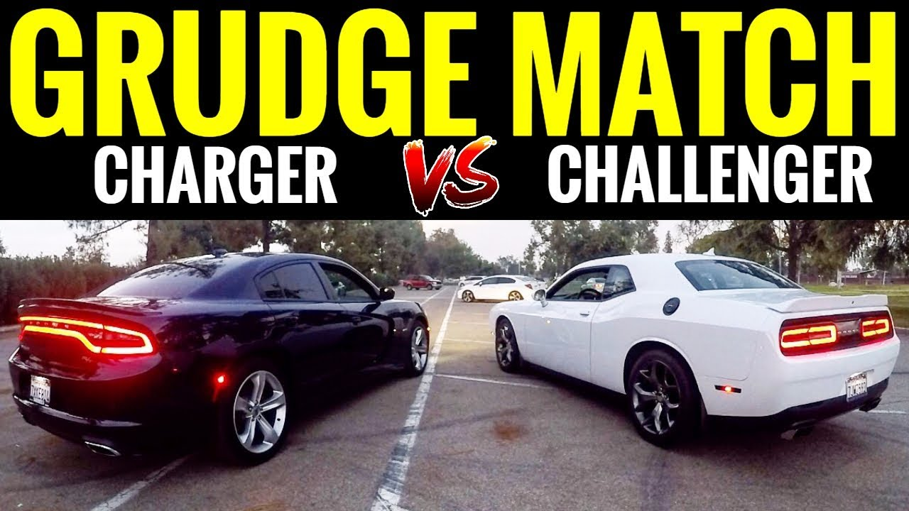 dodge charger rt vs challenger rt street race youtube. Black Bedroom Furniture Sets. Home Design Ideas