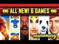 🌊ALL NEW! 6 GAMES 😜 - NOTHING BUT BONUS FEATURES! - Slot Machine Bonus