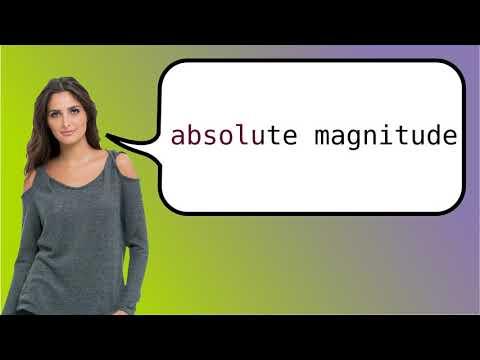 Como dizer 'magnitude absoluta' em ingles?