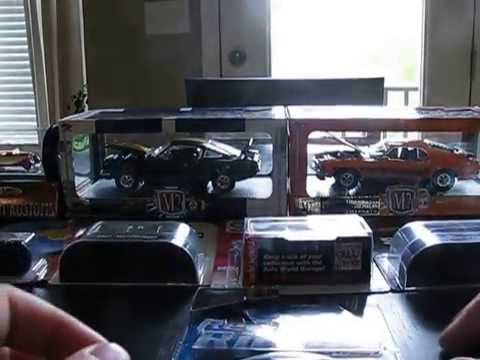 april diecast haul auto world old/new hot wheels and 1/24 m2 machines mustangs
