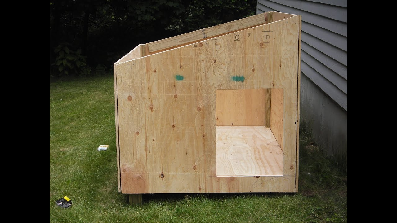 Easy diy dog house plans youtube for Cheap house plans build