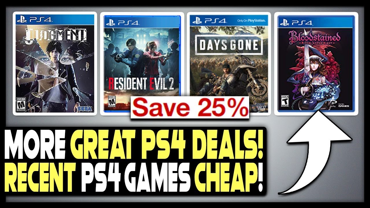 GREAT PS4 GAME DEALS - DAYS GONE, JUDGMENT + MORE CHEAP!