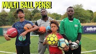 MULTI BALL Penalties vs The BEAST Goalkeeper