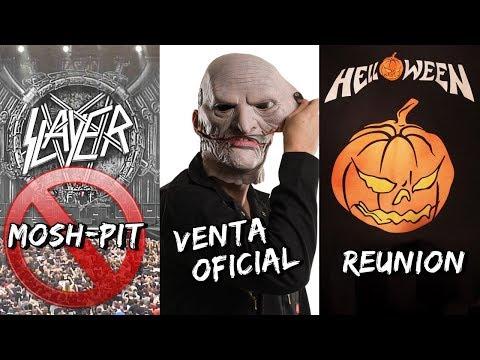 Prohiben Mosh-Pit en Conciertos de Slayer | Slipknot VENDE sus Mascaras | Helloween | Slash