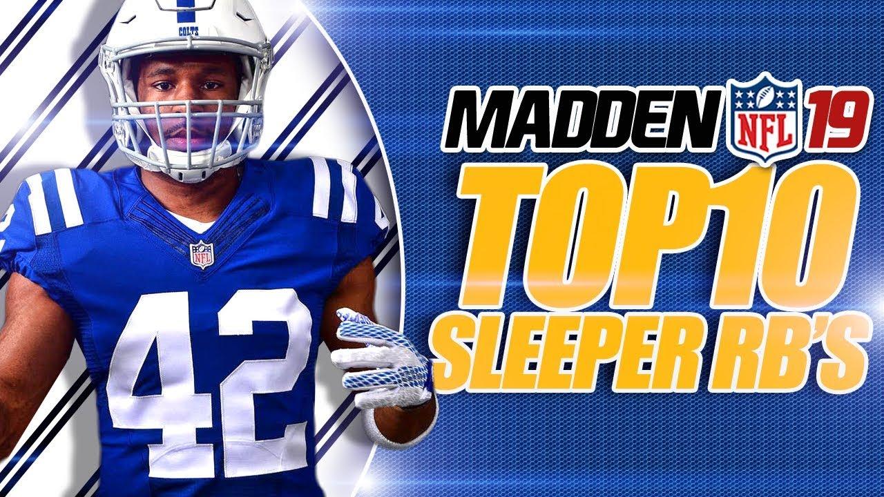 Madden 19 Franchise Top 10 Sleeper Running Backs!
