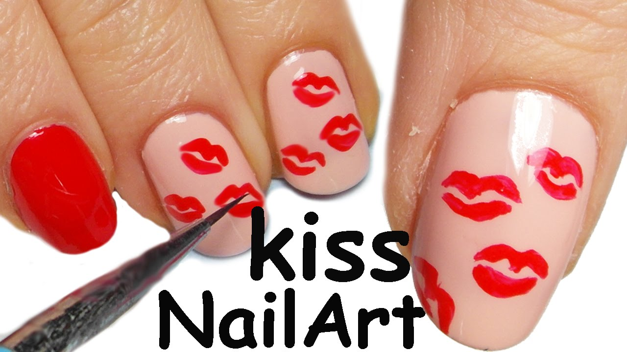 Kiss Kiss Nail Art Tutorial Facilissima - Kiss Kiss Nail Art Tutorial Facilissima - YouTube