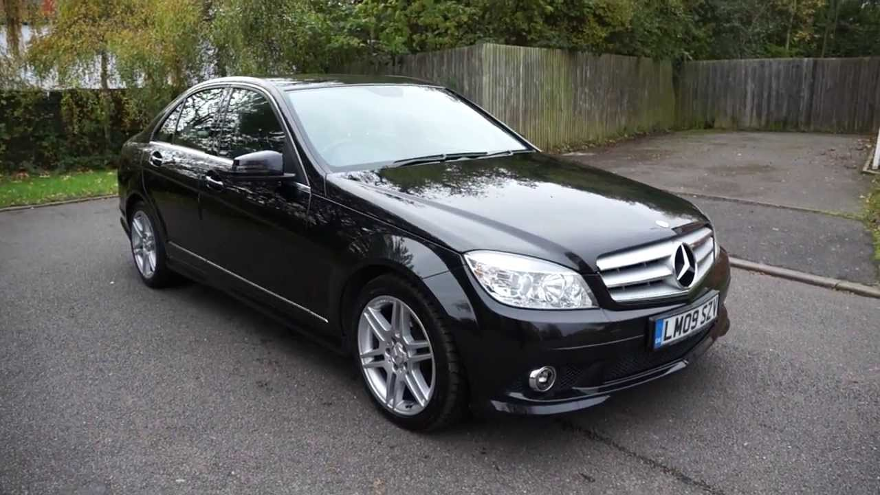 2009 09 mercedes c220 cdi amg sport saloon automatic diesel obsidian black mercland nuneaton. Black Bedroom Furniture Sets. Home Design Ideas