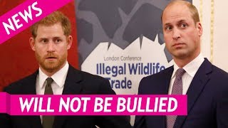 William and Harry Issue Rare Joint Statement to Deny 'Bullying' Caused Rift