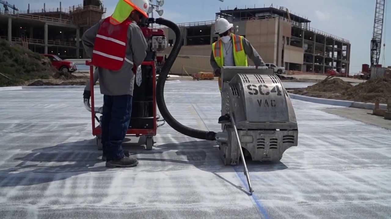 Early Entry Sawing With Vacuum System In Texas Joint Saw