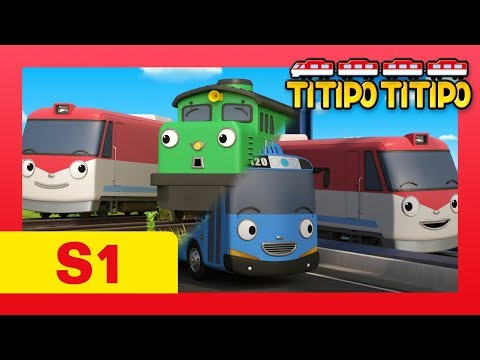 TITIPO S1 #1-6 L Can Titipo Adjust Well To Choo-Choo Town?! L Trains For Kids L TITIPO TITIPO