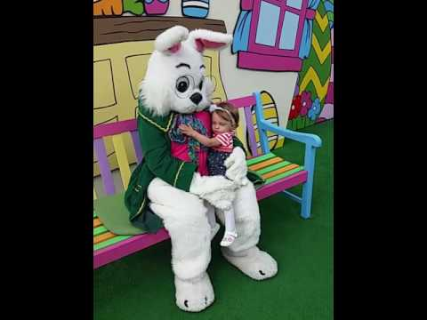 Kaitlyn Meets the Easter Bunny