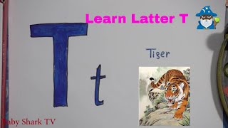 Learn Latter T  Draw and color the T