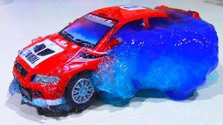 Машинки Во Льду! Замораживаем Машинки В Лизунах Car Toys Frozen!