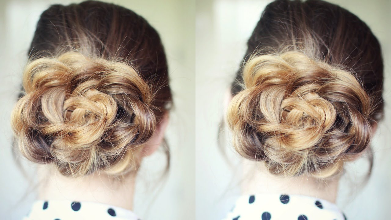 Quick and easy flower bun hairstyle school hairstyles quick and easy flower bun hairstyle school hairstyles braidsandstyles12 youtube pmusecretfo Image collections
