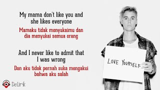 Love Yourself - Justin Bieber (Lyrics video dan terjemahan)