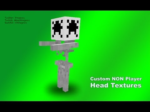 minecraft how to make custom heads
