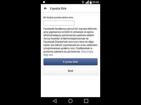 Telefondan Facebook Ana E-Posta Adresini değiştirme 2020