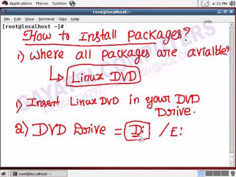 How to install any Software Package (RPM) in LINUX ?