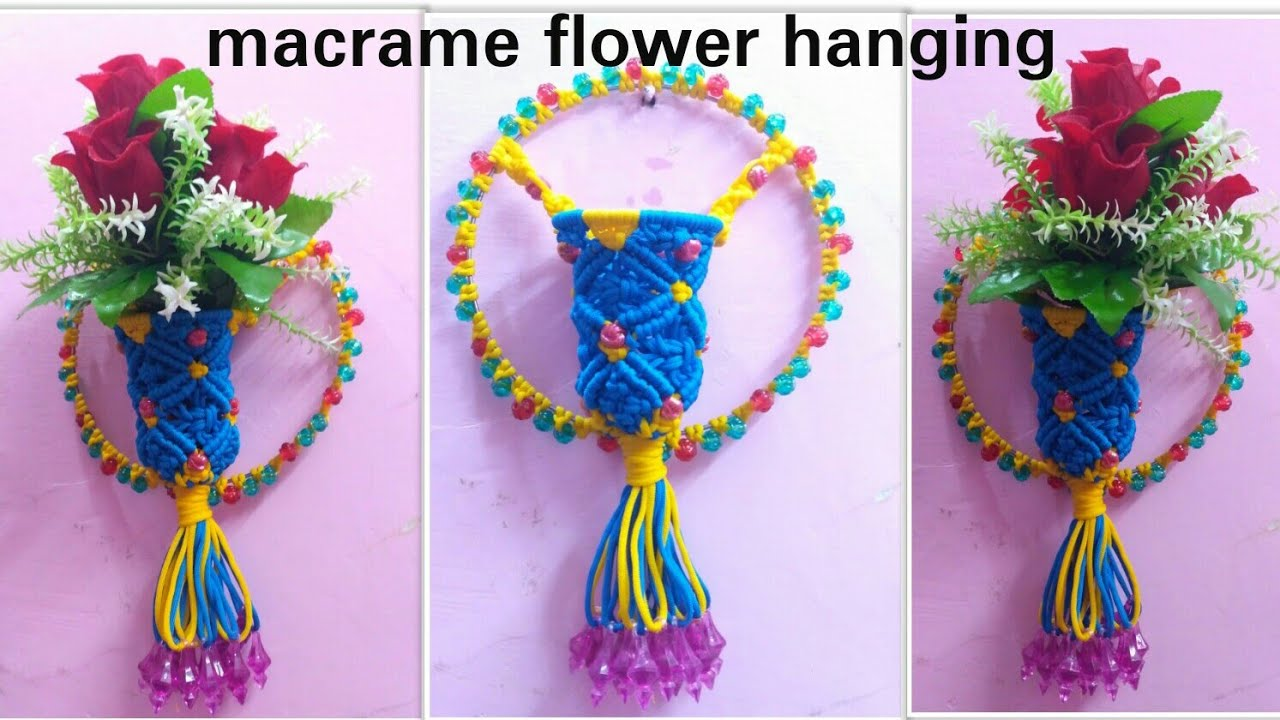 How To Make Macrame Flower Wall Hanging Unique Design