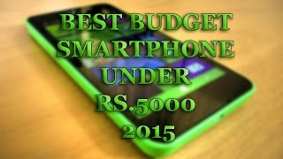 Best Budget Smartphone Under Rs.5000 2015