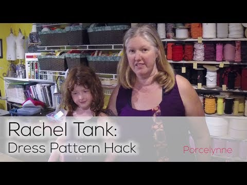 Rachel Tank Pattern Hack: Turn it into a Dress and Make Fit Adjustments