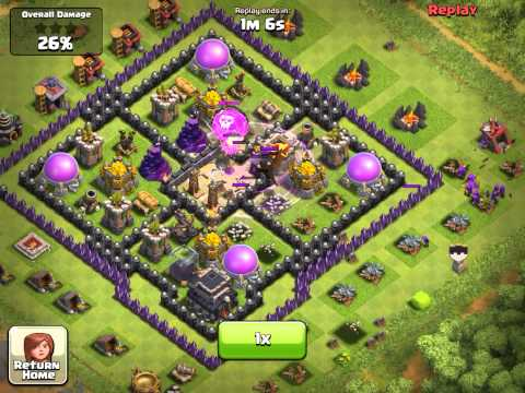 Clash of Clans Defending against army of BALLOONS