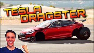 INSANE TESLA DRAGSTER | Forza Horizon 3 Dev Mods | Unbelievable Acceleration!