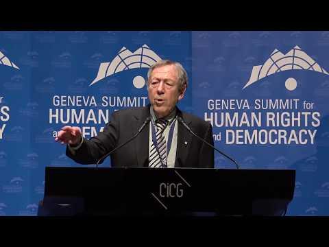 Irwin Cotler at Geneva Summit 2018