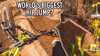 RIDING the WORLD'S BIGGEST HIP on my DOWNHILL MTB!