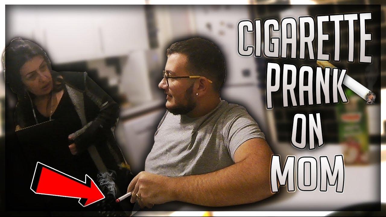Mom Catches Son Smoking Cigarettes Freakout Prank