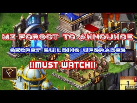 Game of War: Secrete Building upgrades. Not announced. *MUST WATCH *