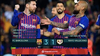 Goals from gerard piqué, lionel messi (penalty) and luis suárez saw barça claim yet another 3 points in la liga - restoring their seven point lead over atlét...