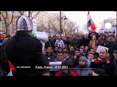 Egyptians living in Paris demonstrate over... - no comment