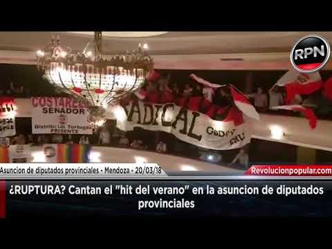 """¿RUPTURA? Cantan el """"Hit del verano"""" en la asunción de diputados provinciales de Mendoza"""