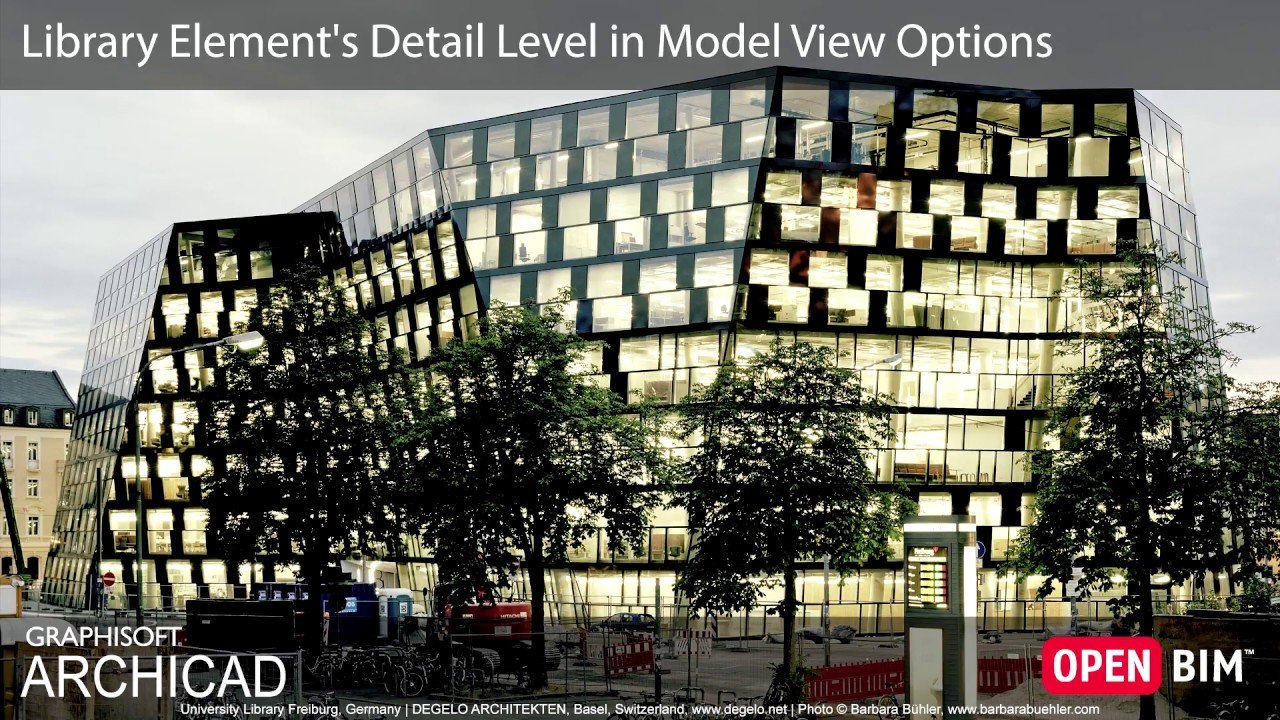 ARCHICAD 22 - Library Element's Detail Level in Model View Options