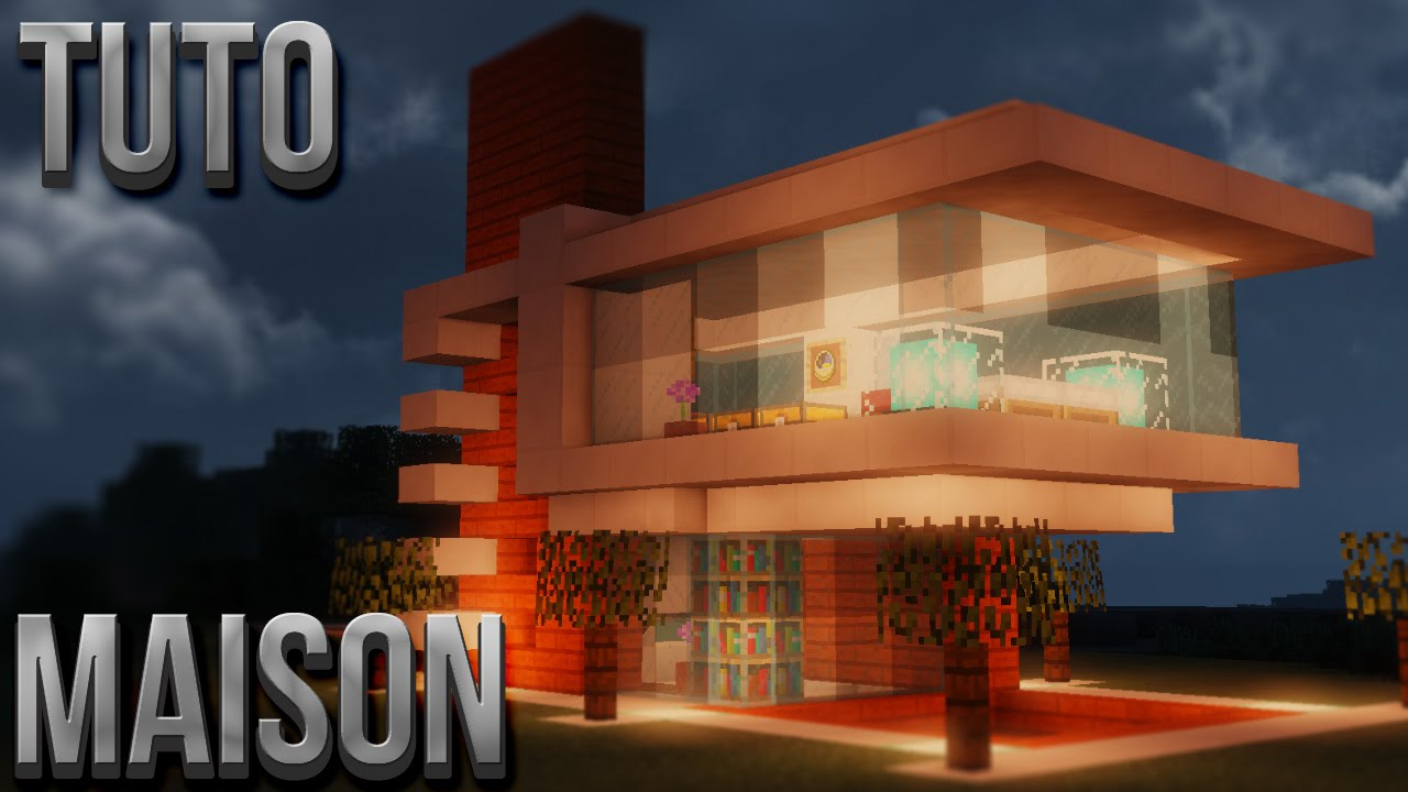 Tuto belle maison moderne minecraft youtube for Maisons contemporaine