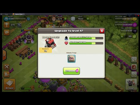 Clash of Clans EP10: Upgrading Dark barracks to level 4!
