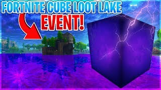FORTNITE CUBE MOVING NOW - LOOT LAKE EVENT! | 🔥 Fortnite Battle Royale Live 🔥