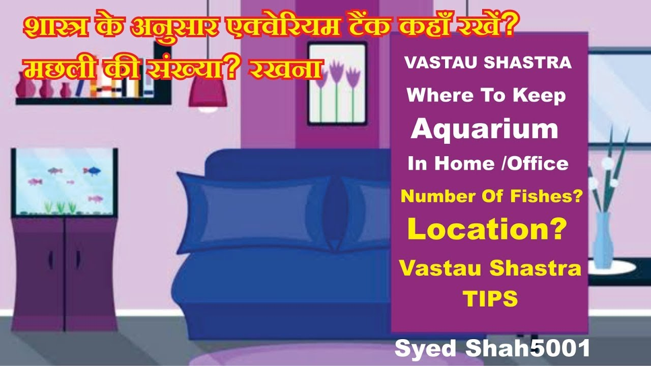 Which Location To Keep Aquarium In Home Vastu Right Placement Fish Tank Youtube